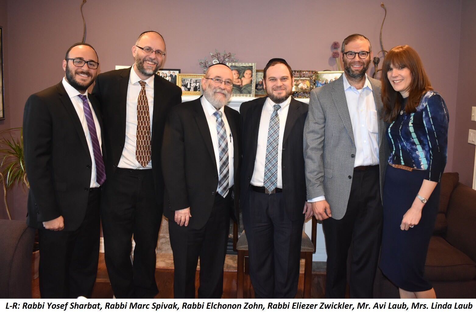 Rabbis and Laubs at the breakfast